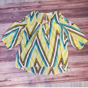 Sheer chevron top